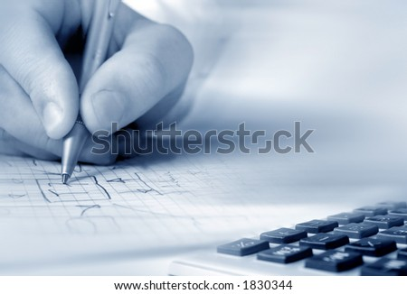 Business people planing - stock photo