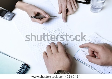 Business people planning - stock photo