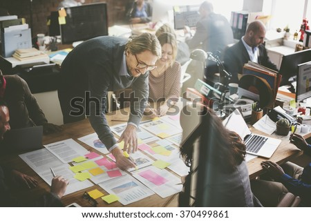 Business People Planning Strategy Analysis Office Concept - stock photo