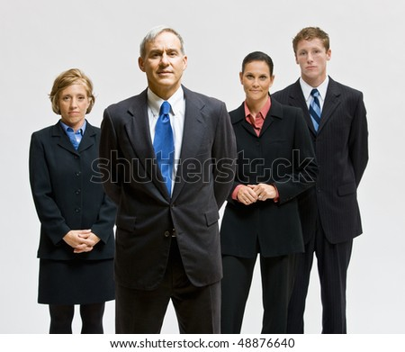 Business people posing together - stock photo