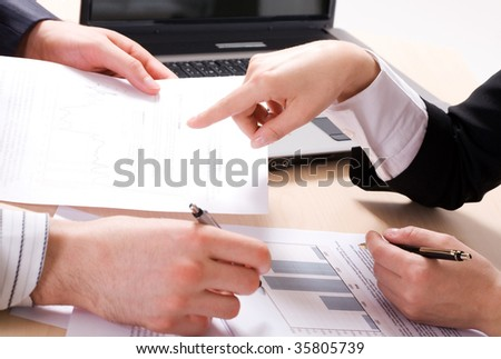 Business people?s hands during teamwork