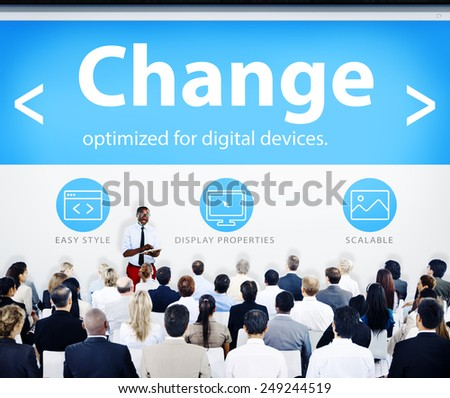 Business People Seminar Change Concept - stock photo