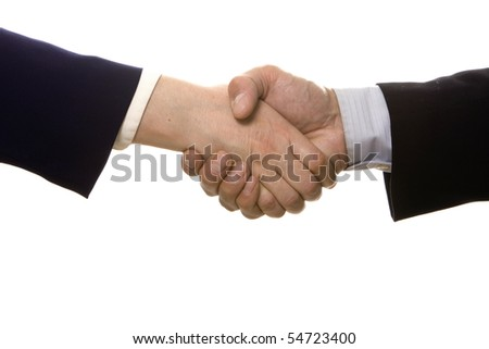 Business people shaking hands after a business deal