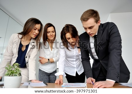 Business people sharing their ideas.  - stock photo