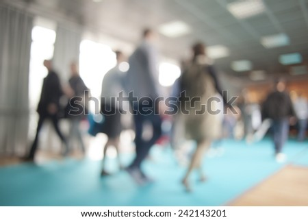 Business people silhouettes - stock photo