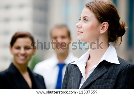 Business People standing outside - stock photo
