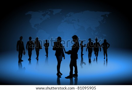business people team - stock photo