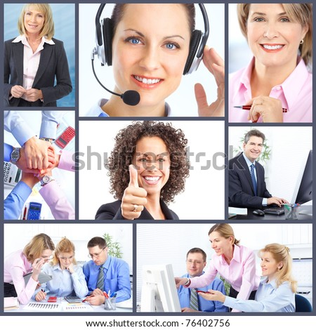 Business  people team.  Businessmen and business women. - stock photo