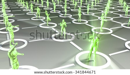 Business People Team Communicating and Working Together - stock photo