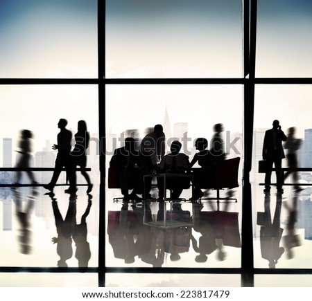 Business People Team Discussion Office Concept - stock photo