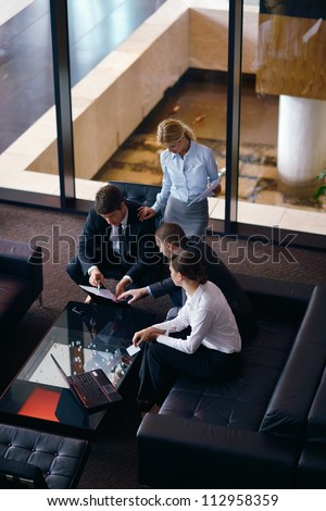 business people  team  group  on a meeting have success and make deal