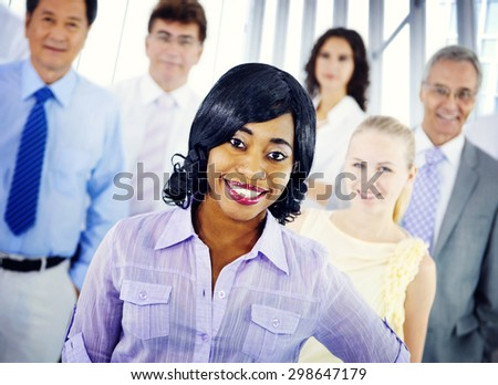 Business People Team Success Cheerful Concept
