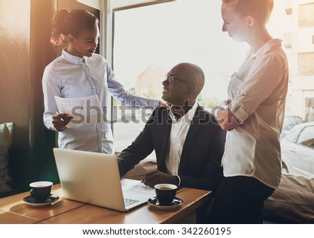 Business people teamwork, multi ethnic group, business, entrepreneur, start up concept - stock photo