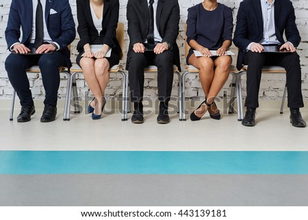 Business people waiting for job interview - human resources concept