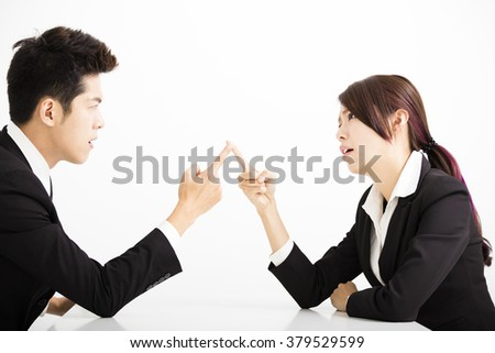 business people with complain concept - stock photo