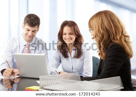 Business people working in group in the office