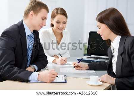 Business people working in team in the office
