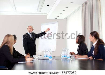 Business people working together - A diverse work group - stock photo