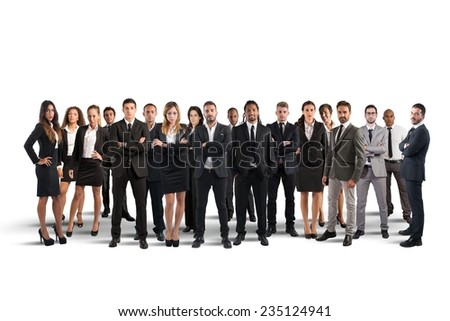 Business people working together as great team - stock photo