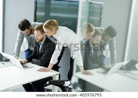 Business people working together in the office - stock photo