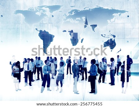 Business People Working Togetherness Global Business Partnership Organization