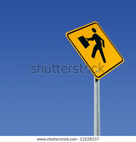 Business person street sign with room for copy - stock photo
