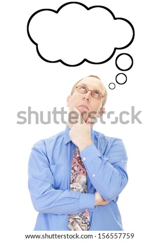 Business person thinking about something - stock photo