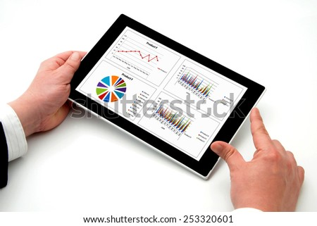 Business person using digital tablet