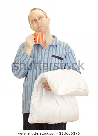 Business person very tired after long hours at work - stock photo