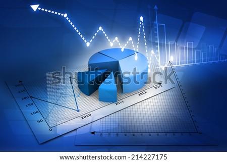 Business pie Graph  - stock photo