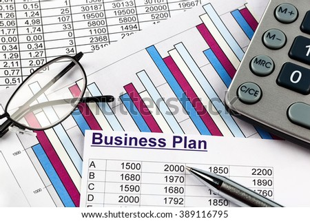 business plan - stock photo
