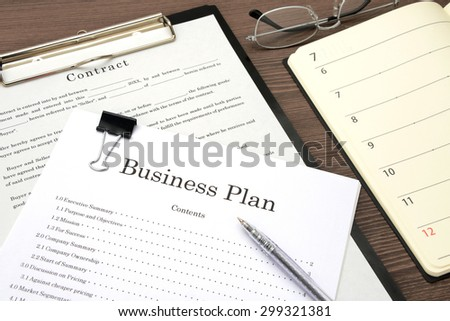 Business plan and contract