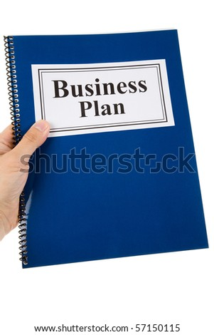 Business Plan and pen with white background