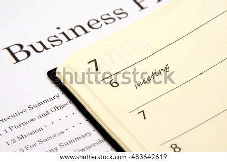 Business plan and personal organizer
