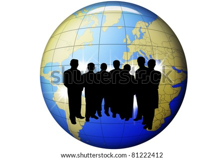 Business plan for a global market - stock photo