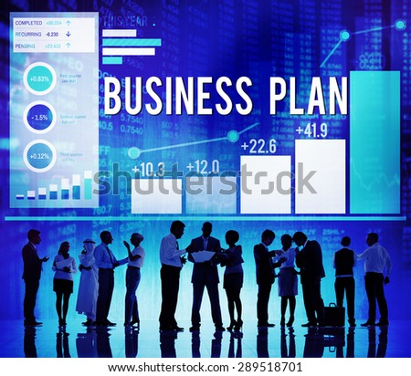 Business Plan Planning Strategy Success Objective Concept - stock photo