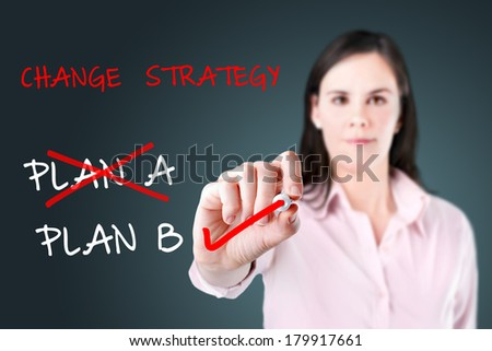 Business plan strategy changing.  - stock photo