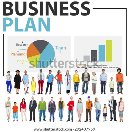 Business Plan Strategy Planning Information Statistics Concept - stock photo