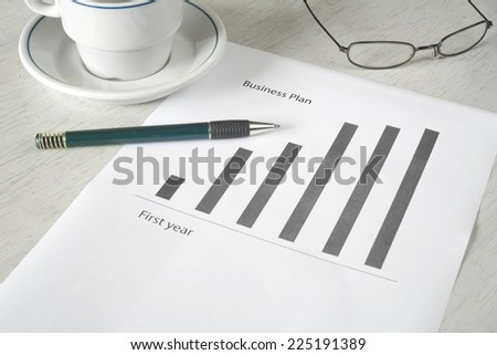 Business plan strategy, start up, free copy space - stock photo