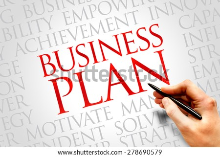 Business Plan word cloud, business concept - stock photo
