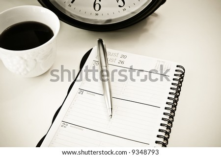 business planner - stock photo