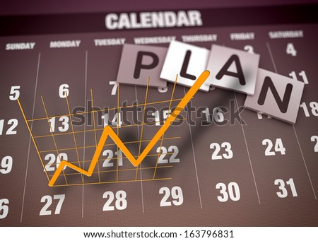 Business planning and charts as concept - stock photo