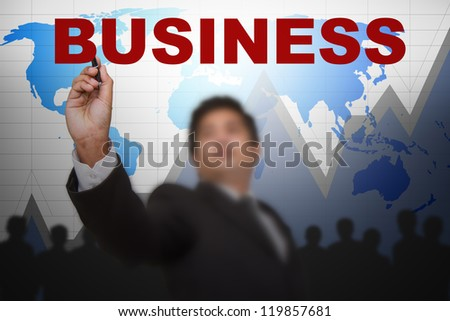 Business planning team to success - stock photo