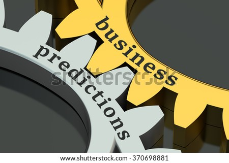 Business Predictions concept on the gearwheels - stock photo