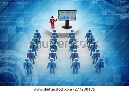 business Presentation - stock photo