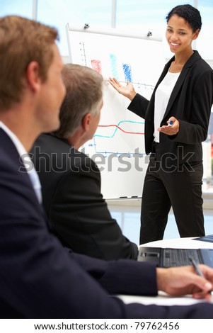 Business presentation - stock photo