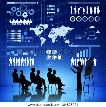 Business Presentation About International Relations - stock photo