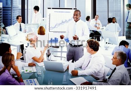 Business Presentation Collaboration Colleagues Concept - stock photo