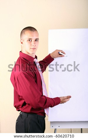 Business presentation in a room - stock photo