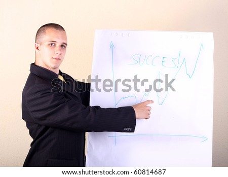 Business presentation in a room
